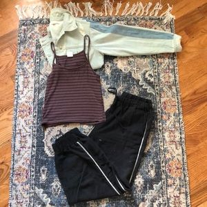 Tops - Crop striped tank top